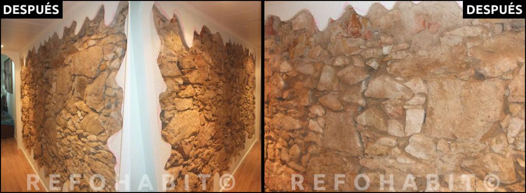 Reforma de techos con volta catalana y paredes de obra vista - Restaurar paredes viejas ...