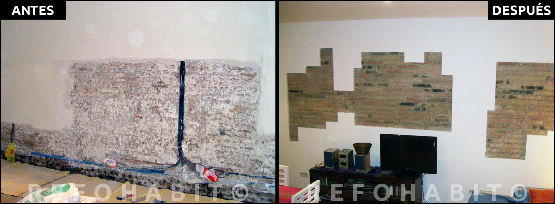 Reforma de techos con volta catalana y paredes de obra vista - Como reformar una casa ...