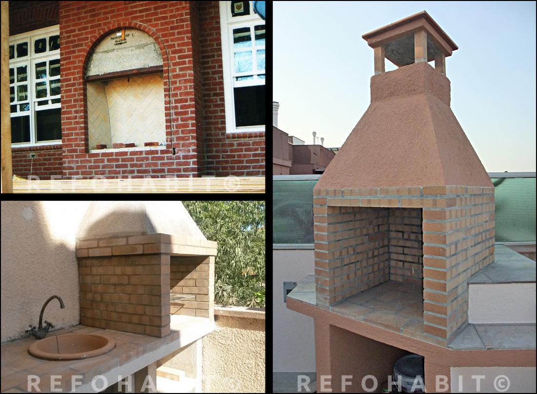 Barbacoas de obra y ladrillo refractario hornos y grills - Como construir una barbacoa ...