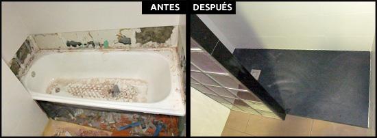 Cambios de ba era por ducha en barcelona precios reales - Quitar banera y poner plato de ducha ...