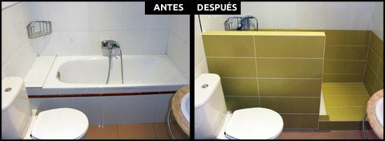 Cambios de ba era por ducha en barcelona precios reales - Duchas con muro ...