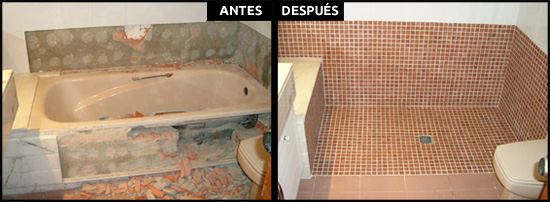 Cambio de bañera por ducha a nivel