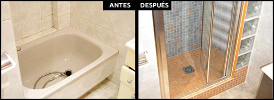 Cambios de ba era por ducha en barcelona precios reales for Baneras pequenas medidas