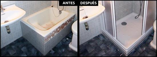 Cambios de ba era por ducha en barcelona precios reales for Baneras antiguas precios