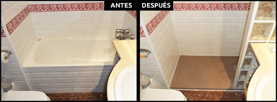 Cambio de bañera por ducha en Eixample Barcelona