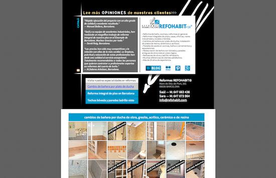 Web de Reformas Refohabit de Barcelona en 2007