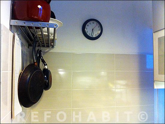Paredes de cocina alicatadas después de la reforma integral