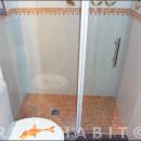 Bañera por plato de ducha de obra con gresite, en piso del Clot Barcelona