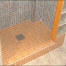 Proceso para el cambio de bañera por ducha de obra con pavés
