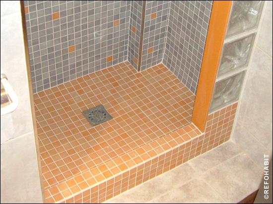 Proceso cambio de ba era por ducha obra en barcelona - Plato de ducha de obra ...