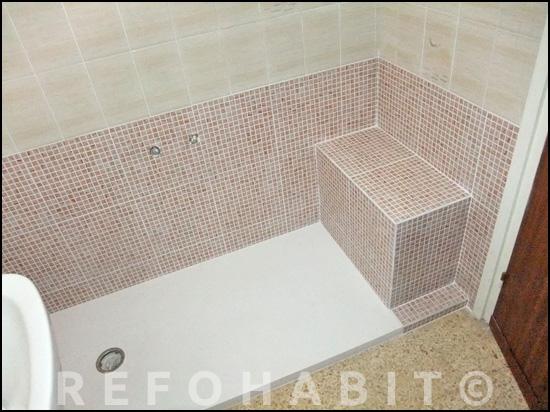 Reforma Baño Banera Por Ducha: por ducha, con banco de obra, baldosas suministradas por el cliente