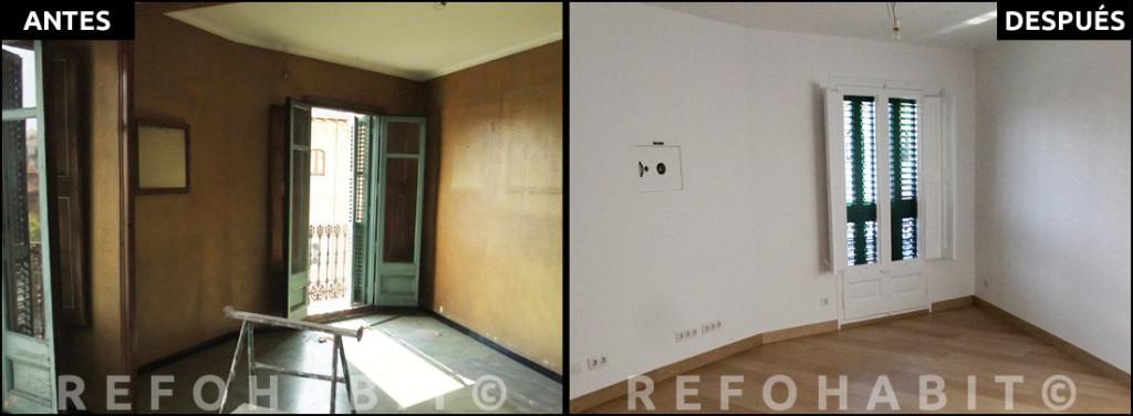 Fotos antes y después reforma integral piso Barcelona