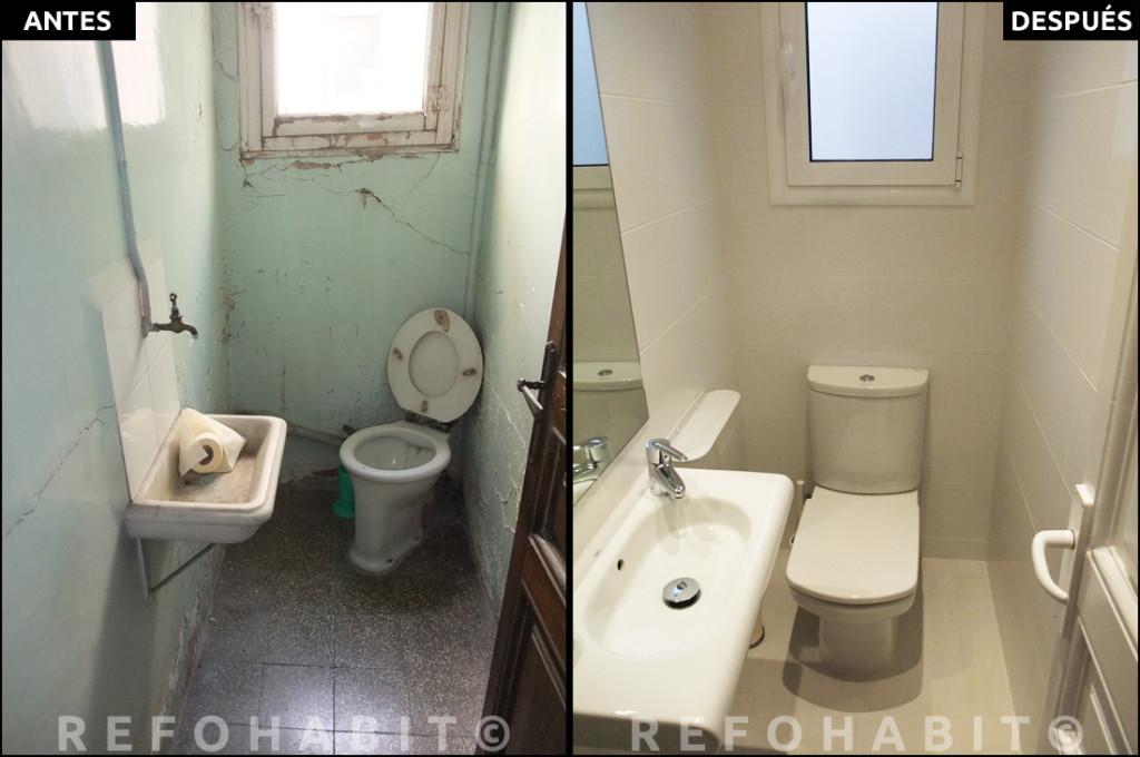 Reforma de baño en piso reformado integralmente