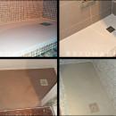 Platos de resina que coloco en reformas de baño o cambios de bañera por ducha