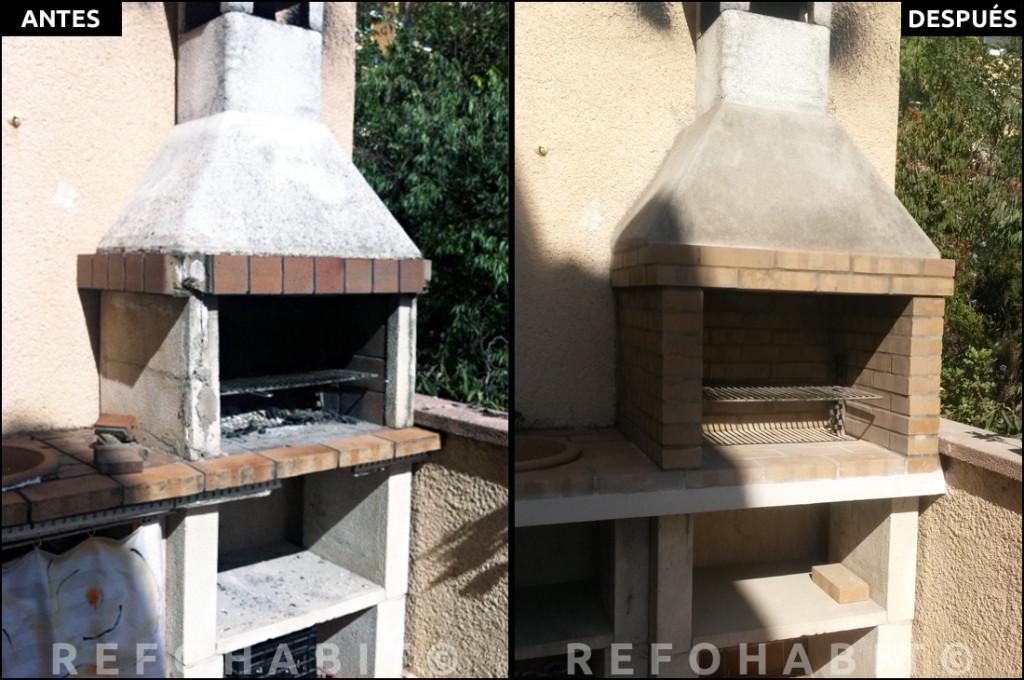 C mo reformar barbacoa de obra en terraza de piso - Como construir una barbacoa de obra ...