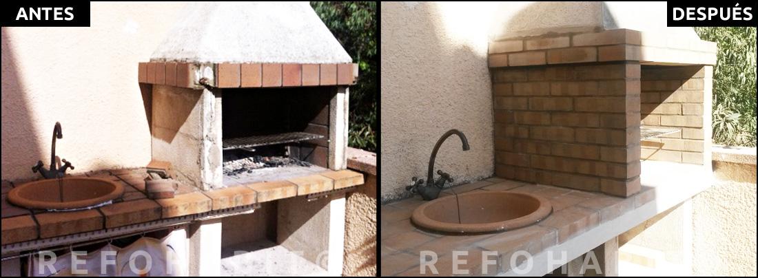 C mo reformar barbacoa de obra en terraza de piso - Chimeneas para barbacoas de obra ...