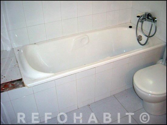 Quitar bañera para hacer plato de ducha.