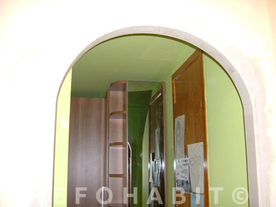 Arco interior en paso entre habitaciones, salón o cocina.