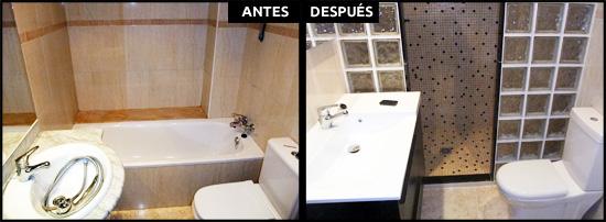 Cambio de bañera por plato de obra en Caldes de Montbui, Barcelona.