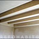 Reforma de techos con vigas y yeso en piso de Trinitat Vella Barcelona