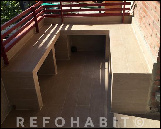 Reforma de balcón en piso de Barcelona