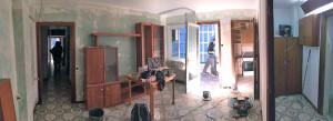 Salón y galería antes de reformar.