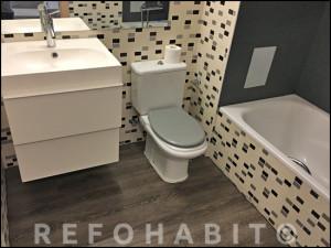Antes de la reforma de baño en vivienda de Cardedeu.